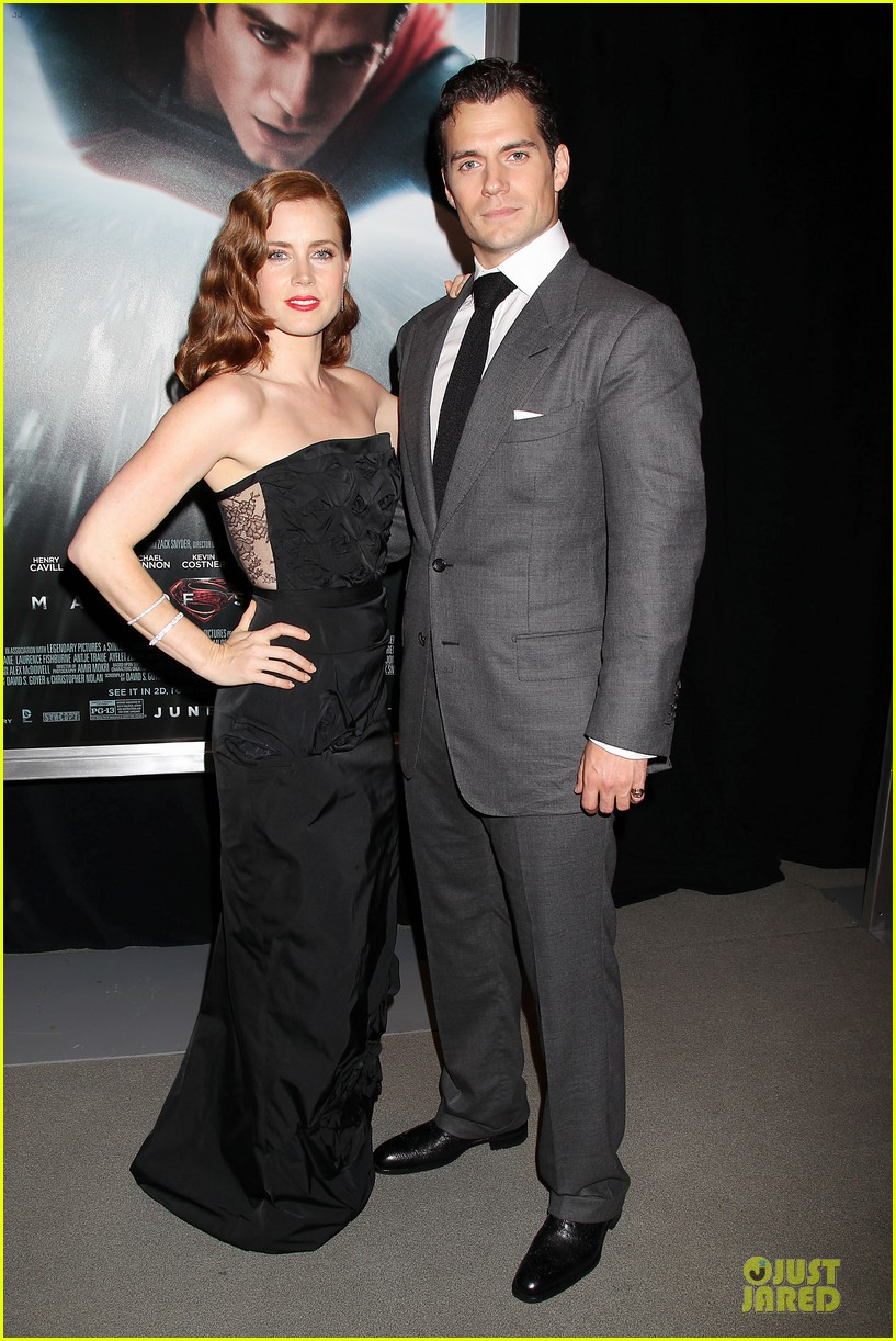 henry cavill amy adams man of steel nyc premiere 032889574