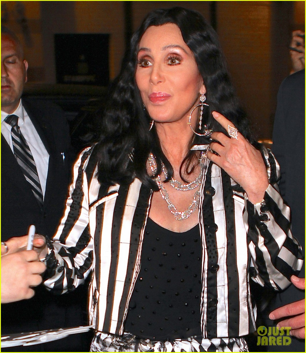cher promotes womans world in new york city 012899836