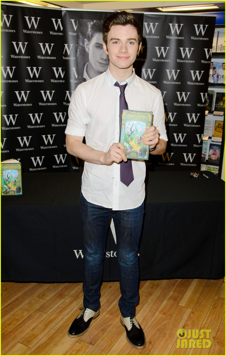 chris colfer struck by lightning uk signing 042892249