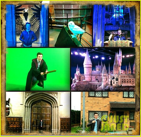 chris colfer harry potter studio tour in london 03