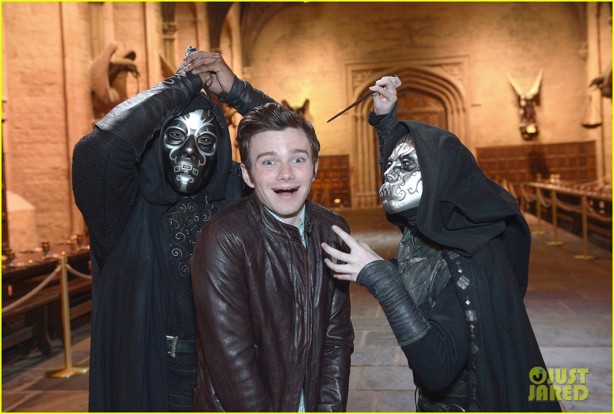 chris colfer harry potter studio tour in london 122895099