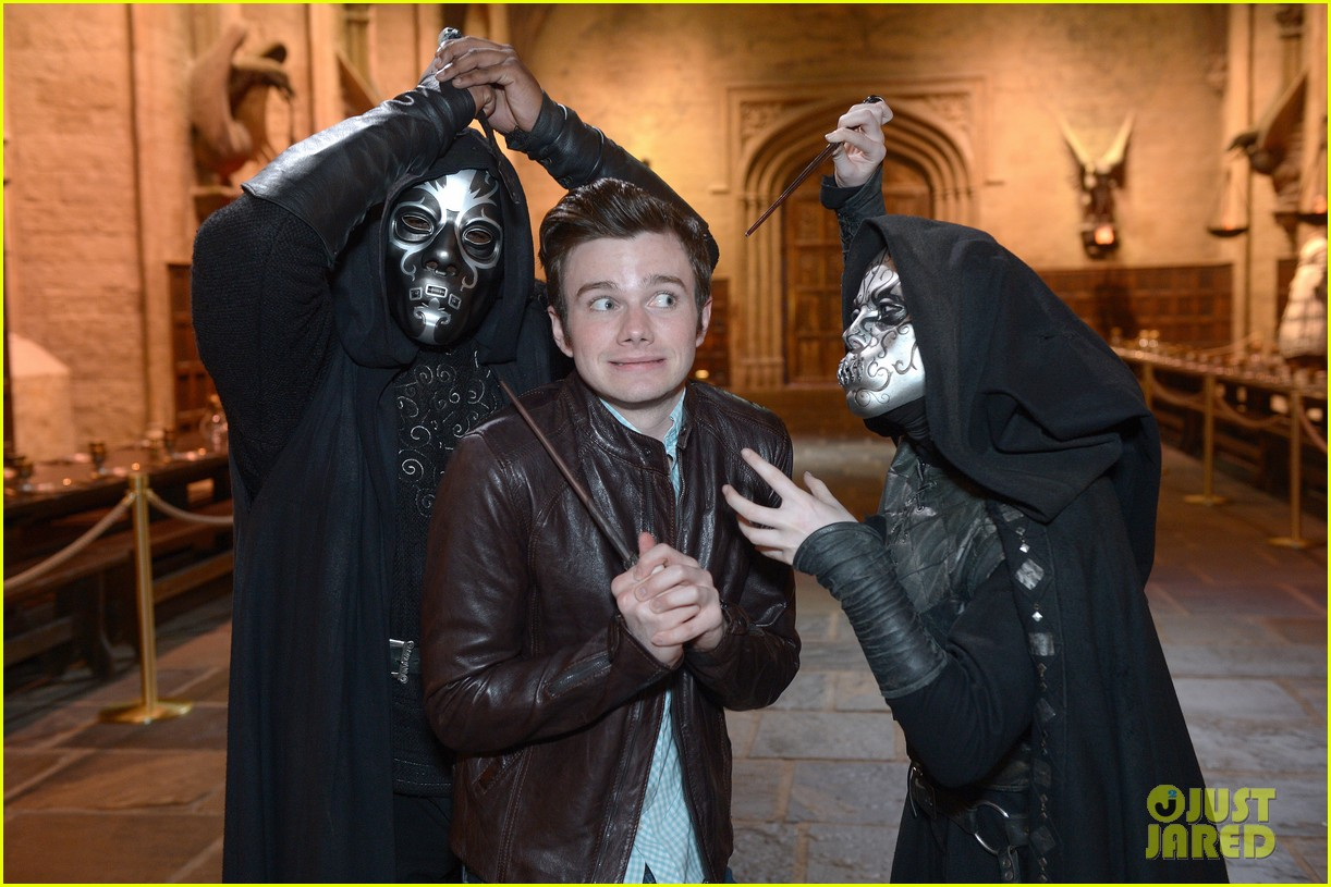chris colfer harry potter studio tour in london 13