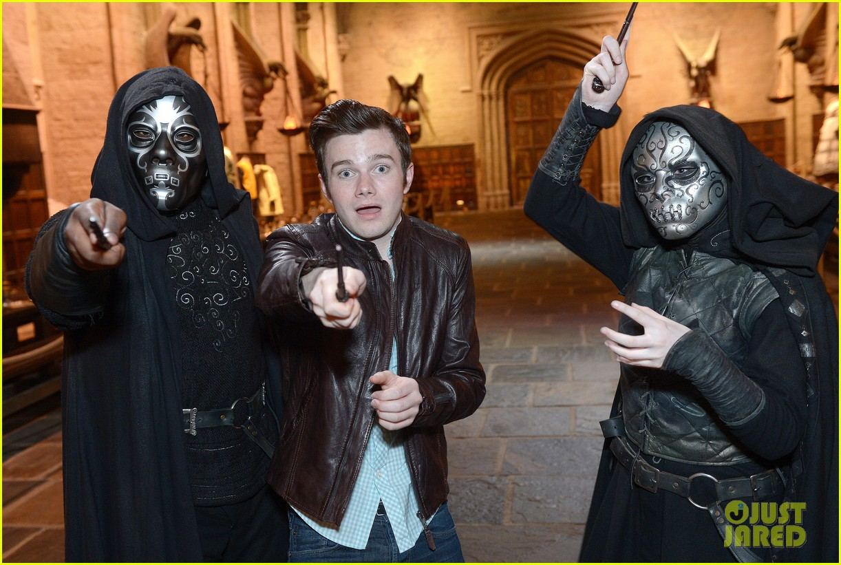 chris colfer harry potter studio tour in london 142895101