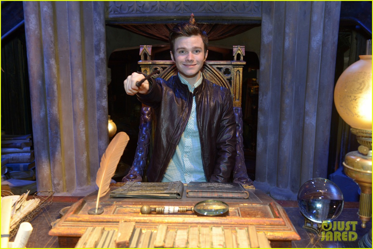 chris colfer harry potter studio tour in london 222895109