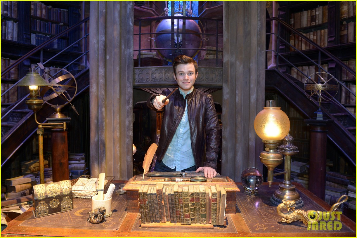 chris colfer harry potter studio tour in london 232895110