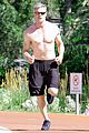 eric dane shirtless workout at coldwater canyon park 12