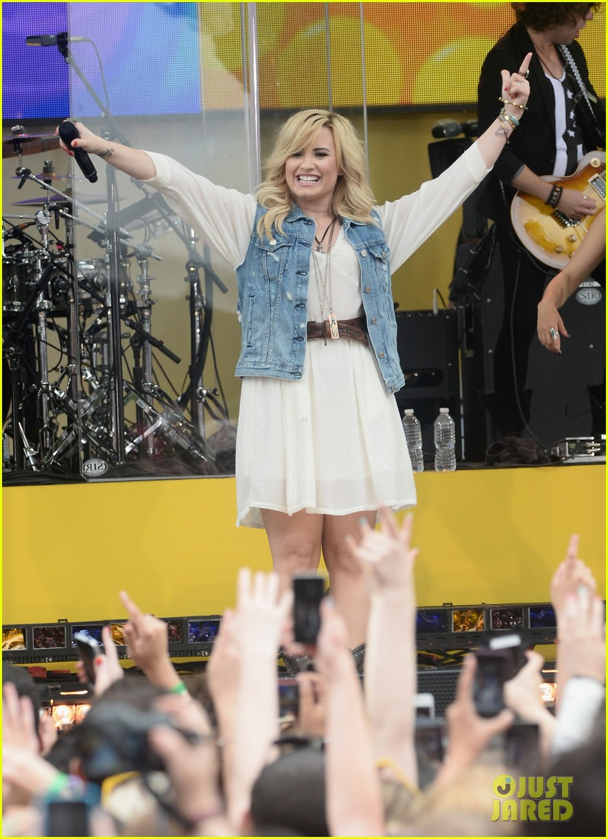 demi lovato good morning america summer concert performer 052899953
