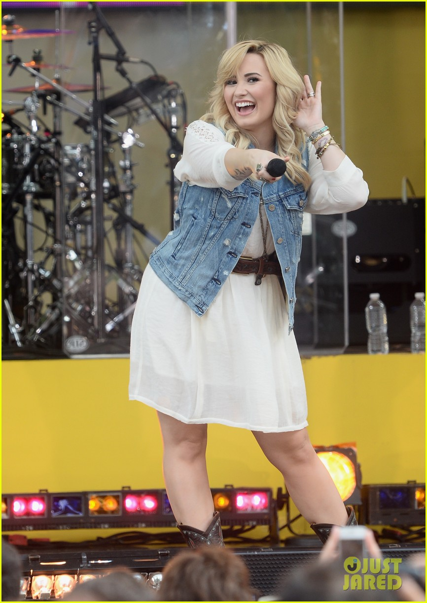 demi lovato good morning america summer concert performer 082899956