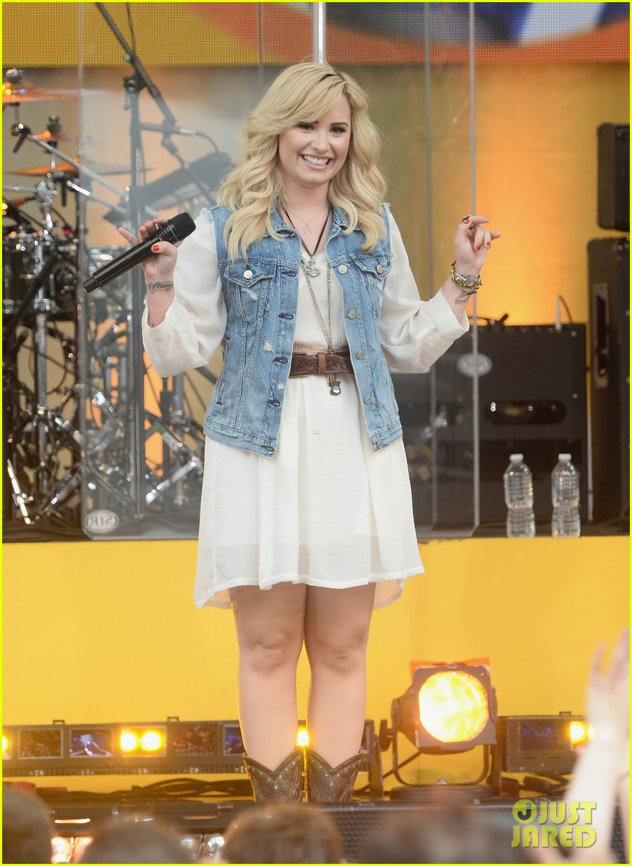 demi lovato good morning america summer concert performer 092899957
