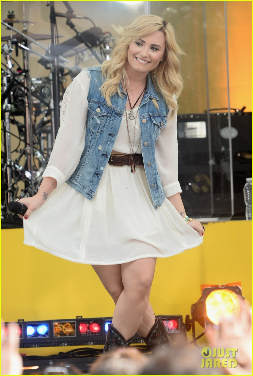 demi lovato good morning america summer concert performer 122899960