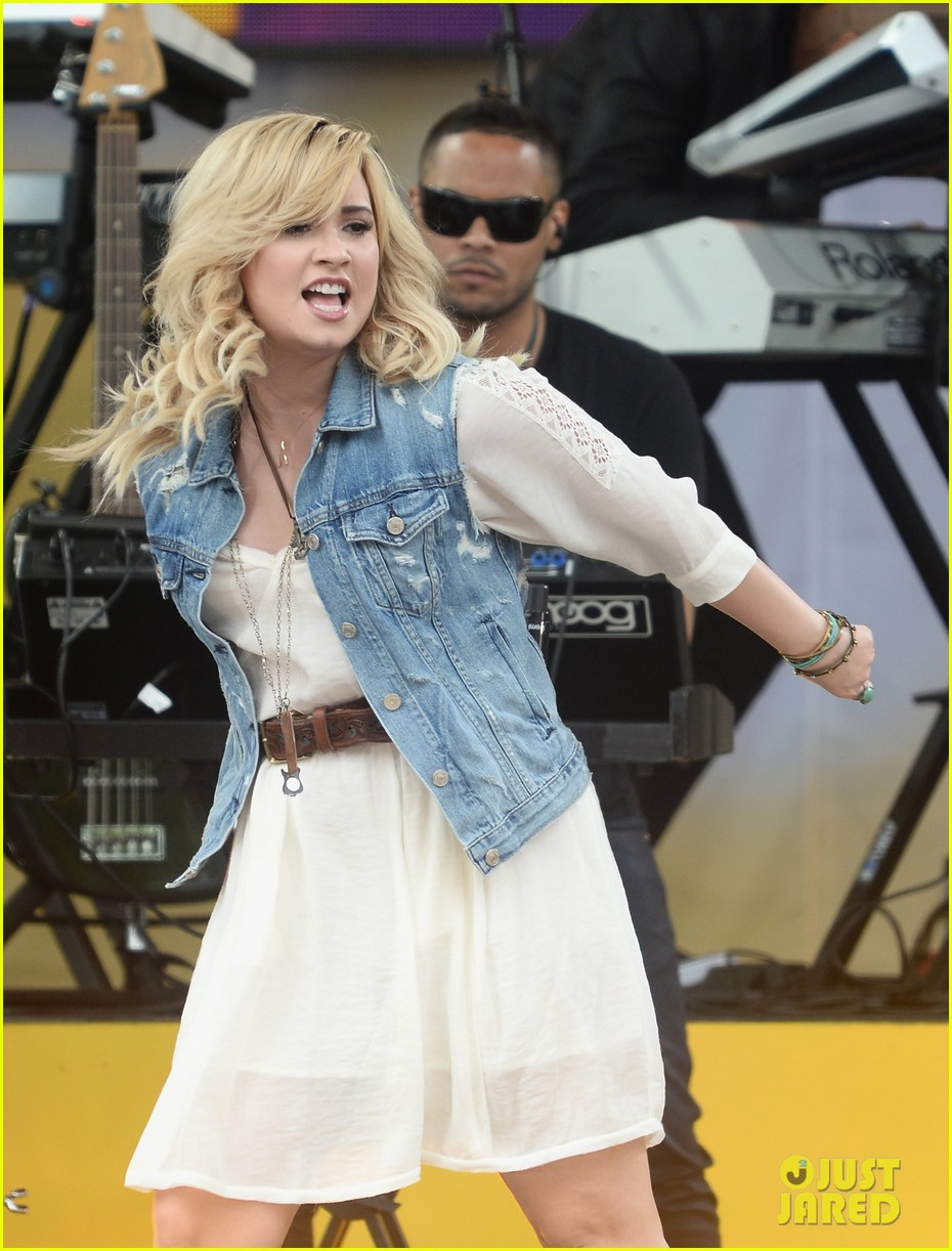 demi lovato good morning america summer concert performer 152899963