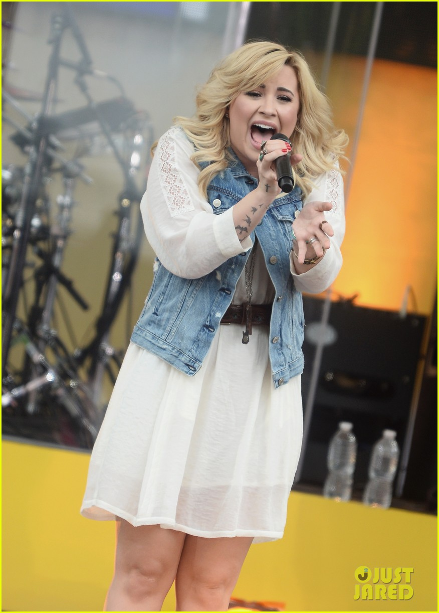 demi lovato good morning america summer concert performer 202899968