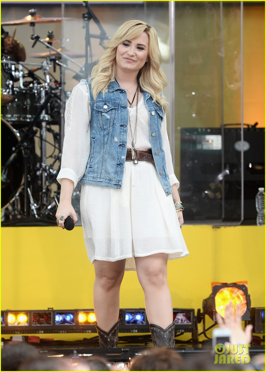 demi lovato good morning america summer concert performer 212899969