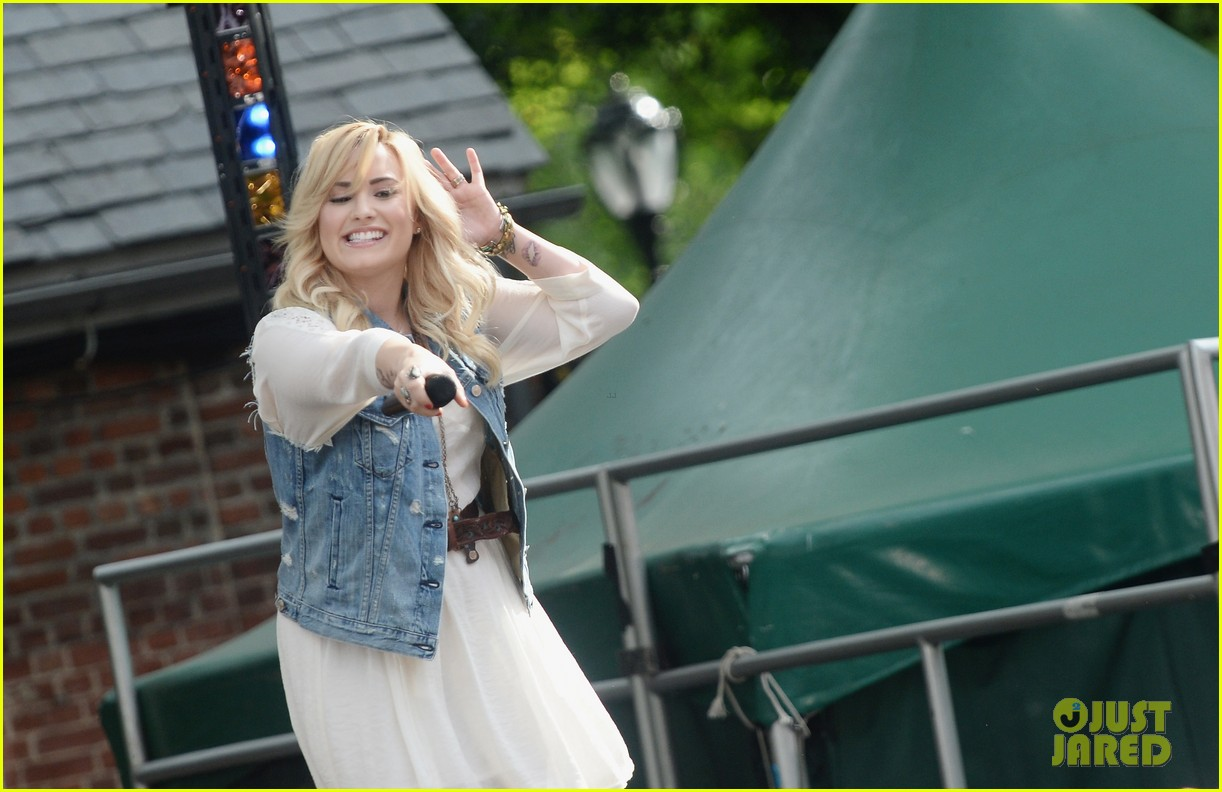 demi lovato good morning america summer concert performer 222899970