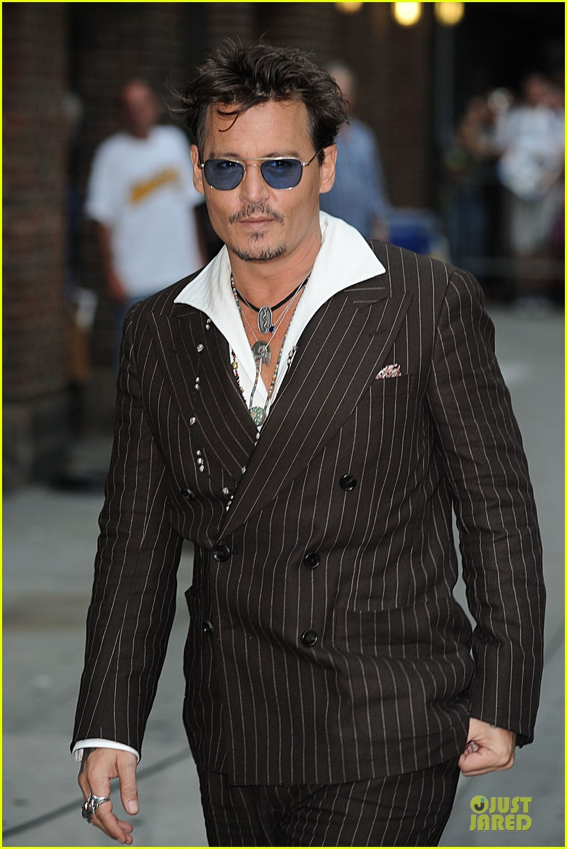 johnny depp lone ranger promotion on letterman 052898520