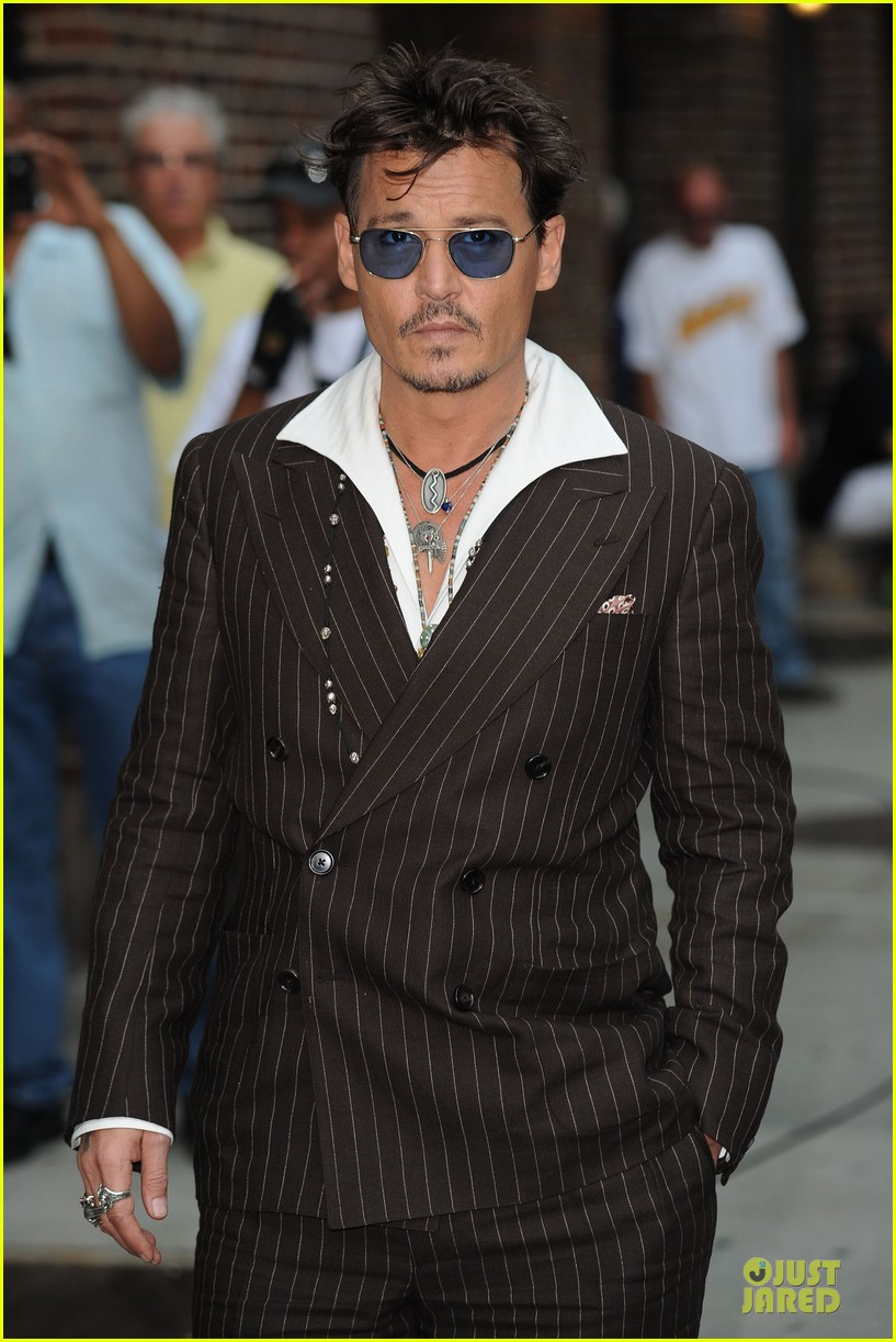 johnny depp lone ranger promotion on letterman 102898525