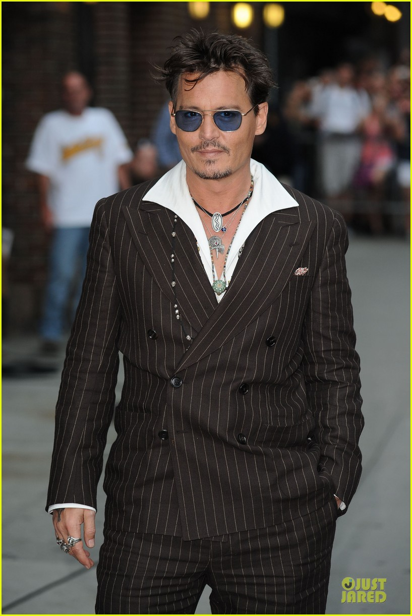 johnny depp lone ranger promotion on letterman 142898529