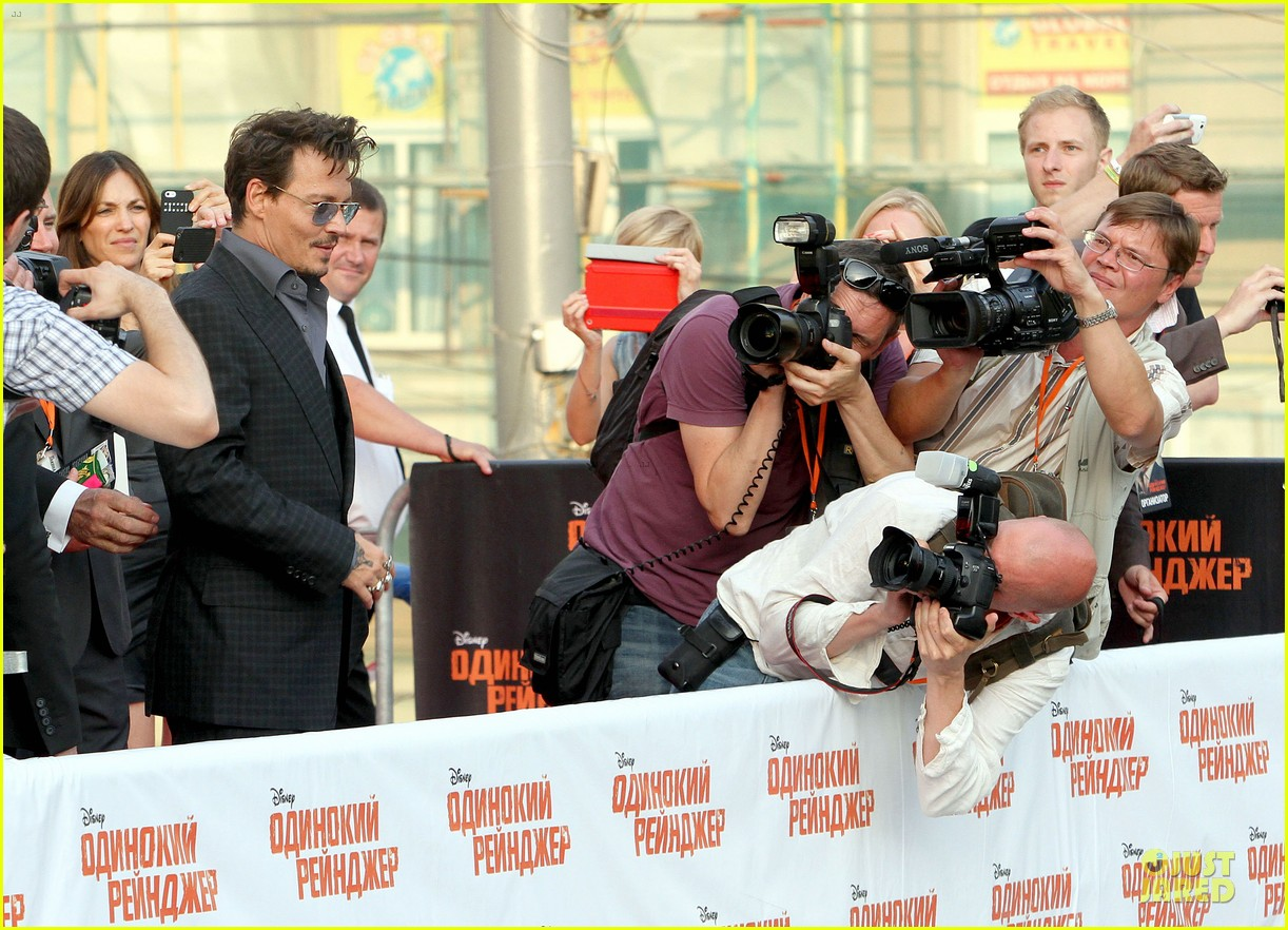 johnny depp armie hammer lone ranger moscow premiere 072900078