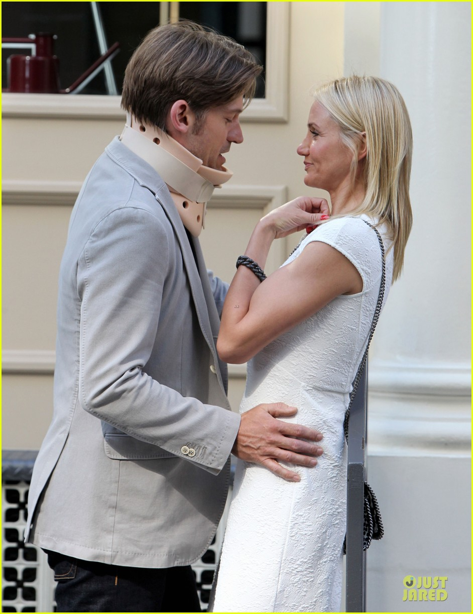 cameron diaz nikolaj coster waldau neck brace on other woman set 162895997