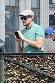 leonardo dicaprio visits famous love locks in paris 04