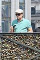leonardo dicaprio visits famous love locks in paris 10