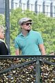 leonardo dicaprio visits famous love locks in paris 12