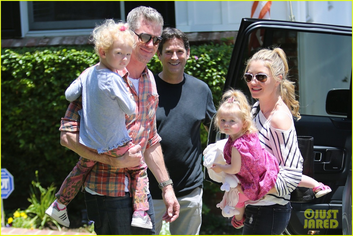eric dane rebecca gayheart spend sunday with the girls 282882815
