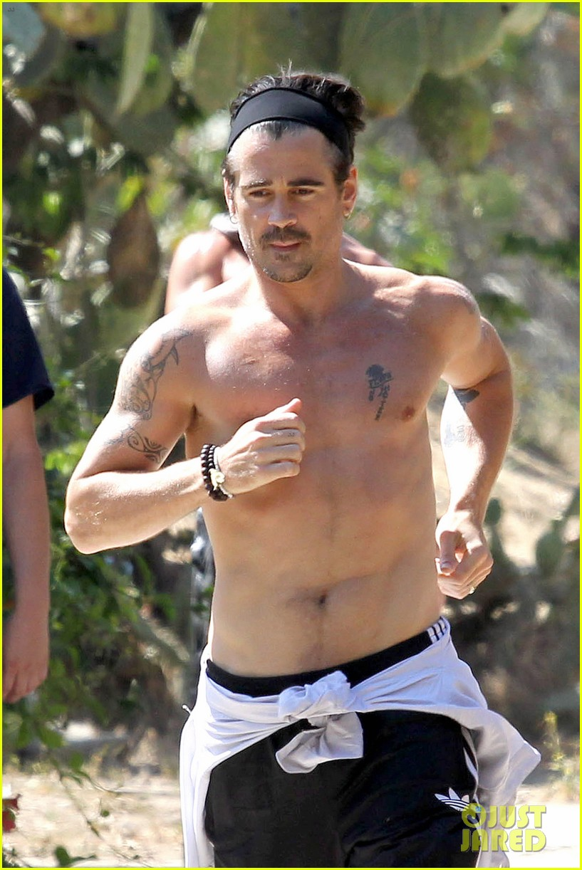 colin farrell shirtless run in hollywood 022893368