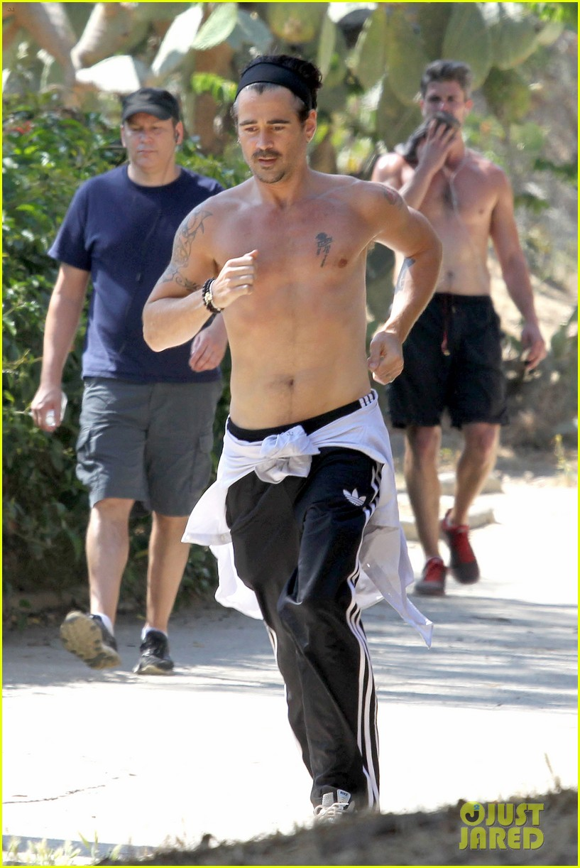 colin farrell shirtless run in hollywood 132893379