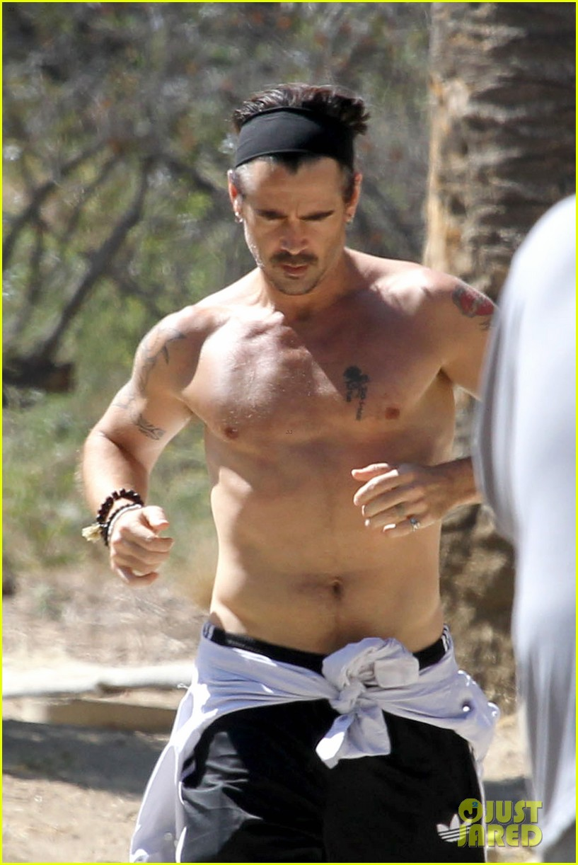 colin farrell shirtless run in hollywood 212893387
