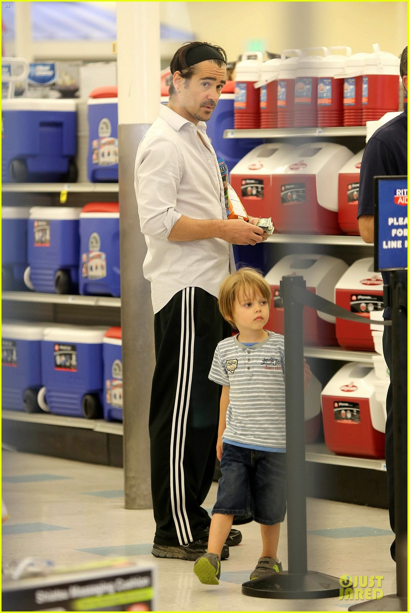 colin farrell rite aid snacks with henry 032891746