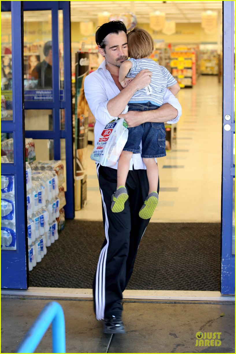 colin farrell rite aid snacks with henry 162891759