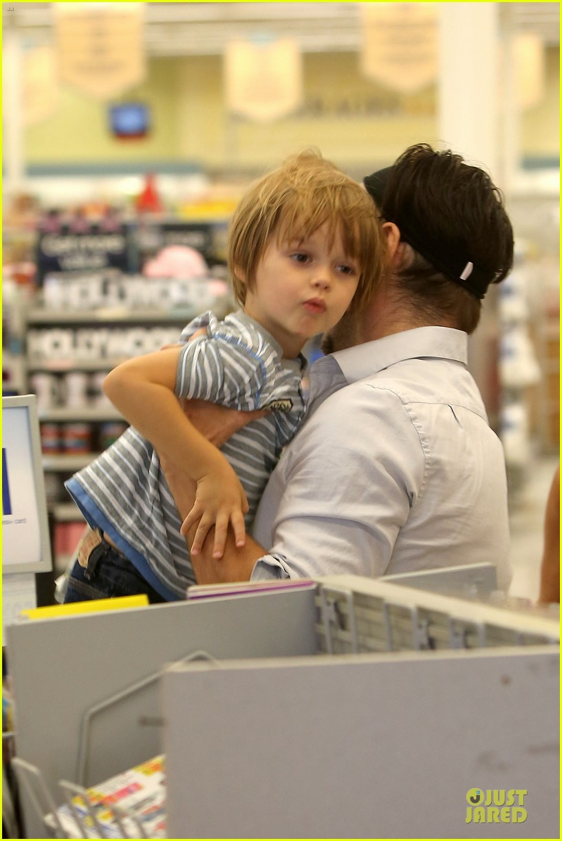 colin farrell rite aid snacks with henry 182891761
