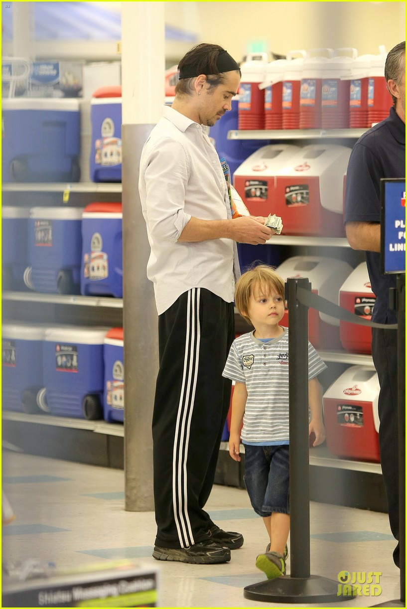 colin farrell rite aid snacks with henry 192891762