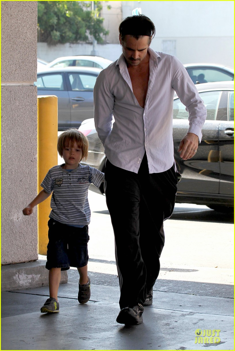 colin farrell rite aid snacks with henry 232891766