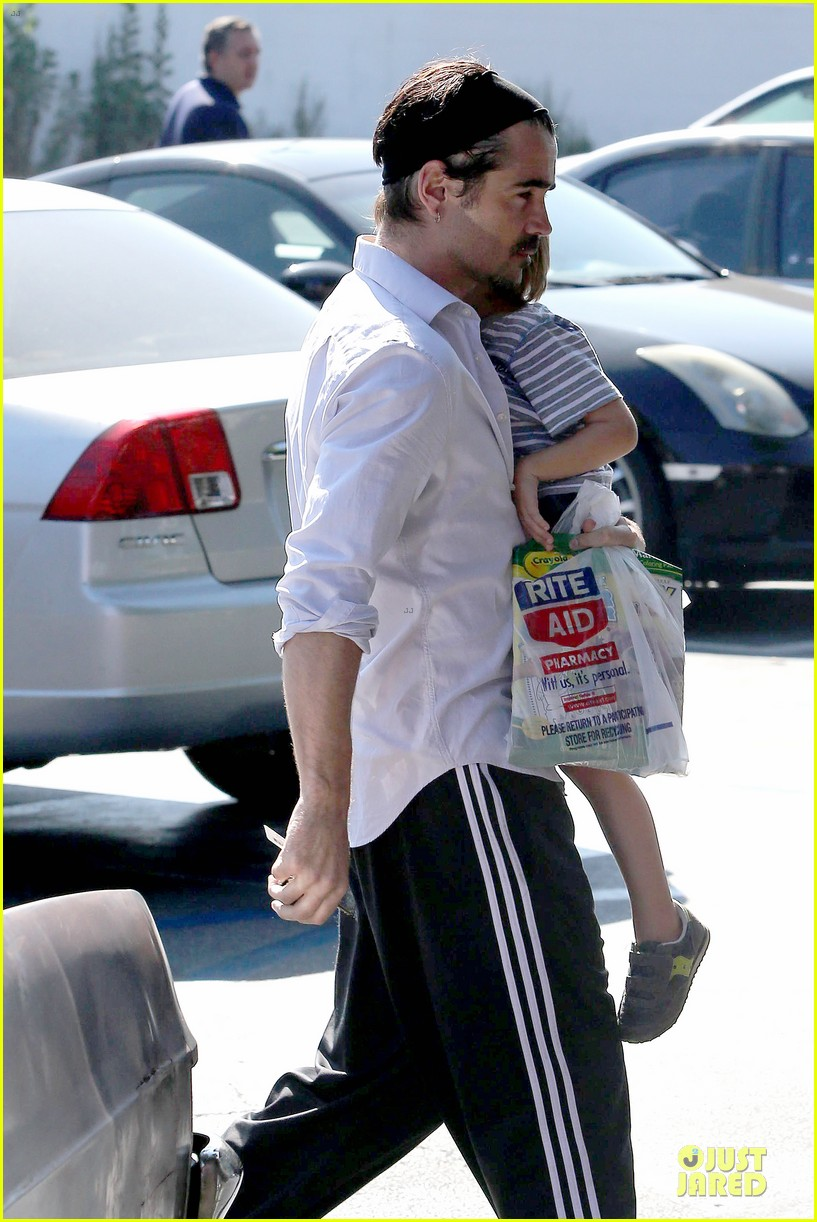 colin farrell rite aid snacks with henry 312891774
