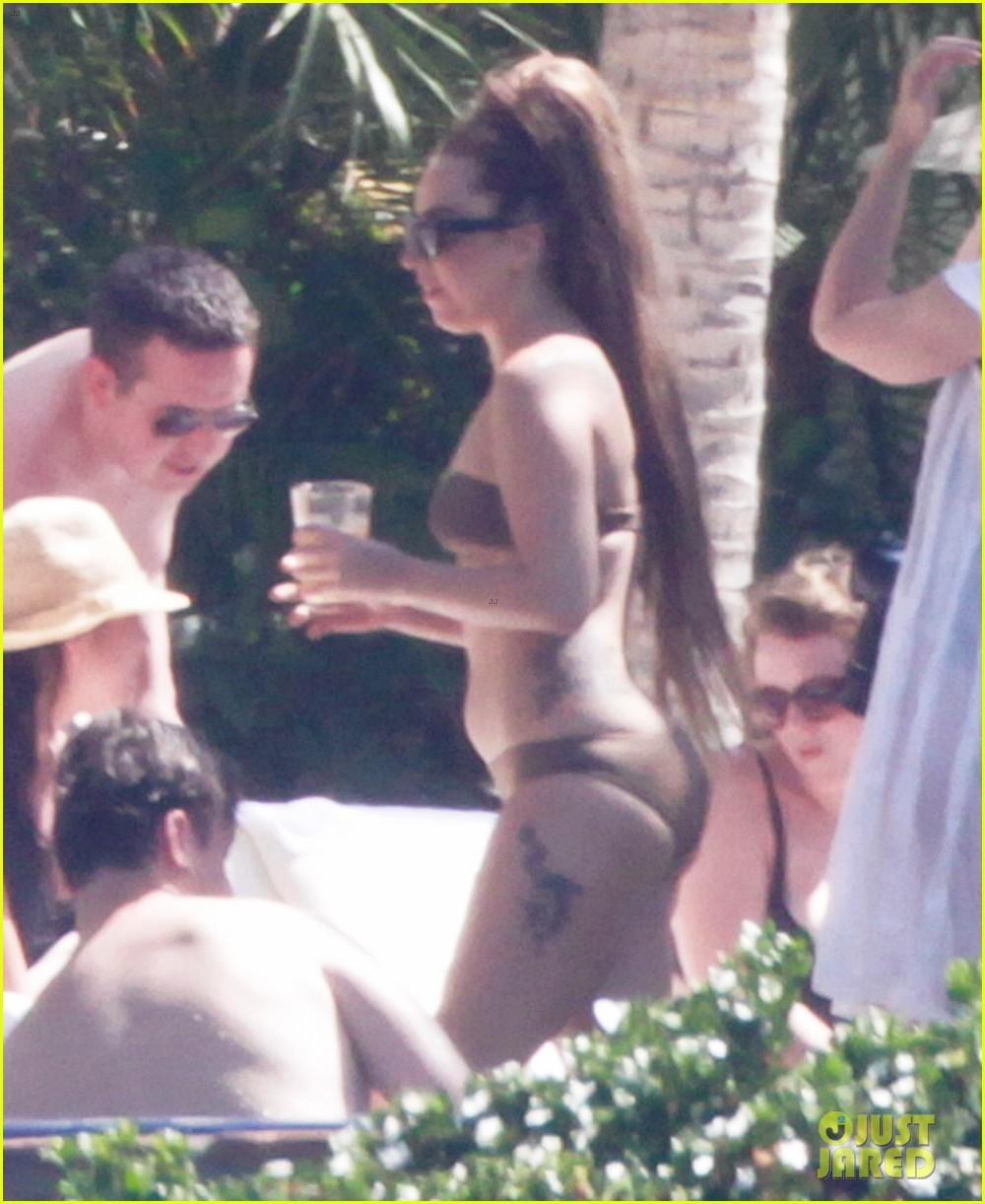 lady gaga bikini sunbathing in mexico 052886706