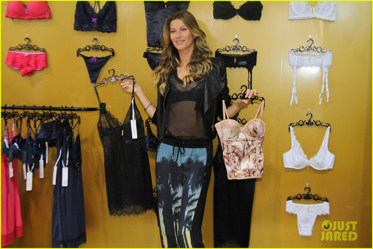 gisele bundchen launches her new lingerie line in brazil 212892480