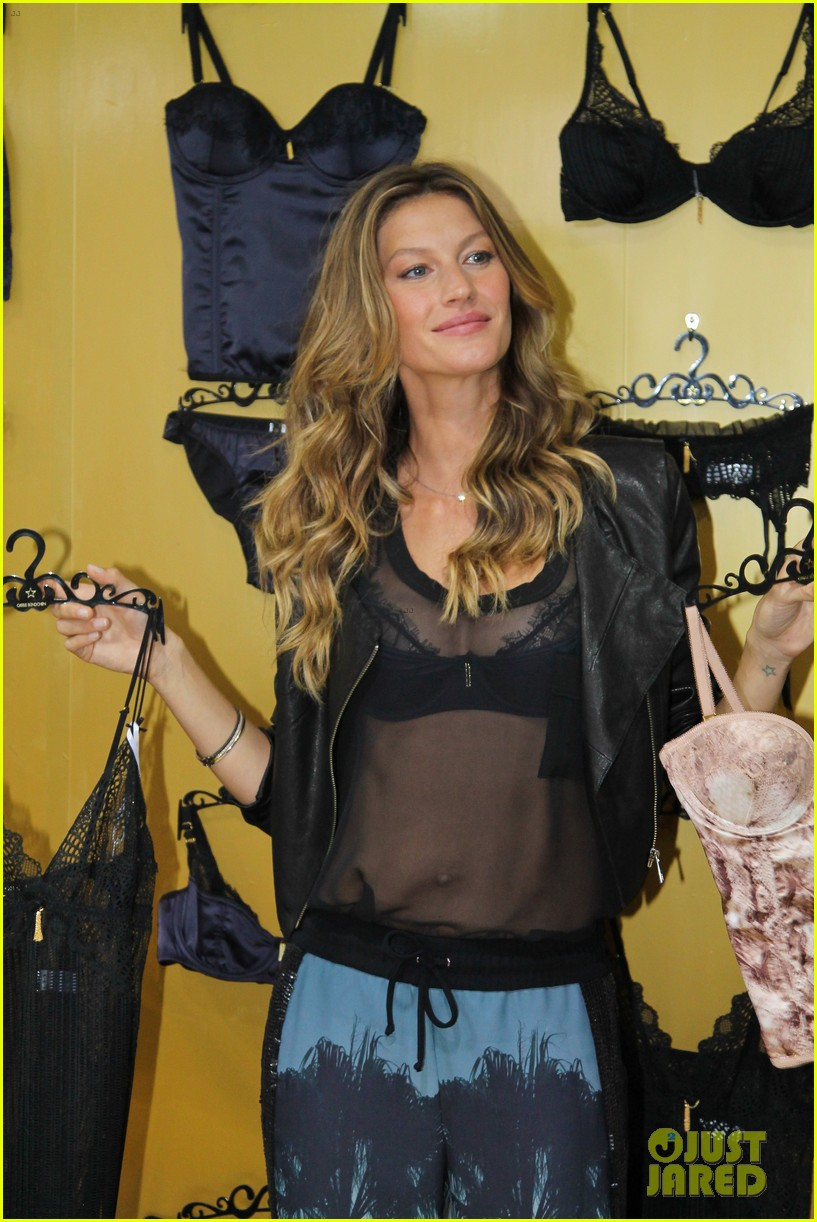 gisele bundchen launches her new lingerie line in brazil 292892488