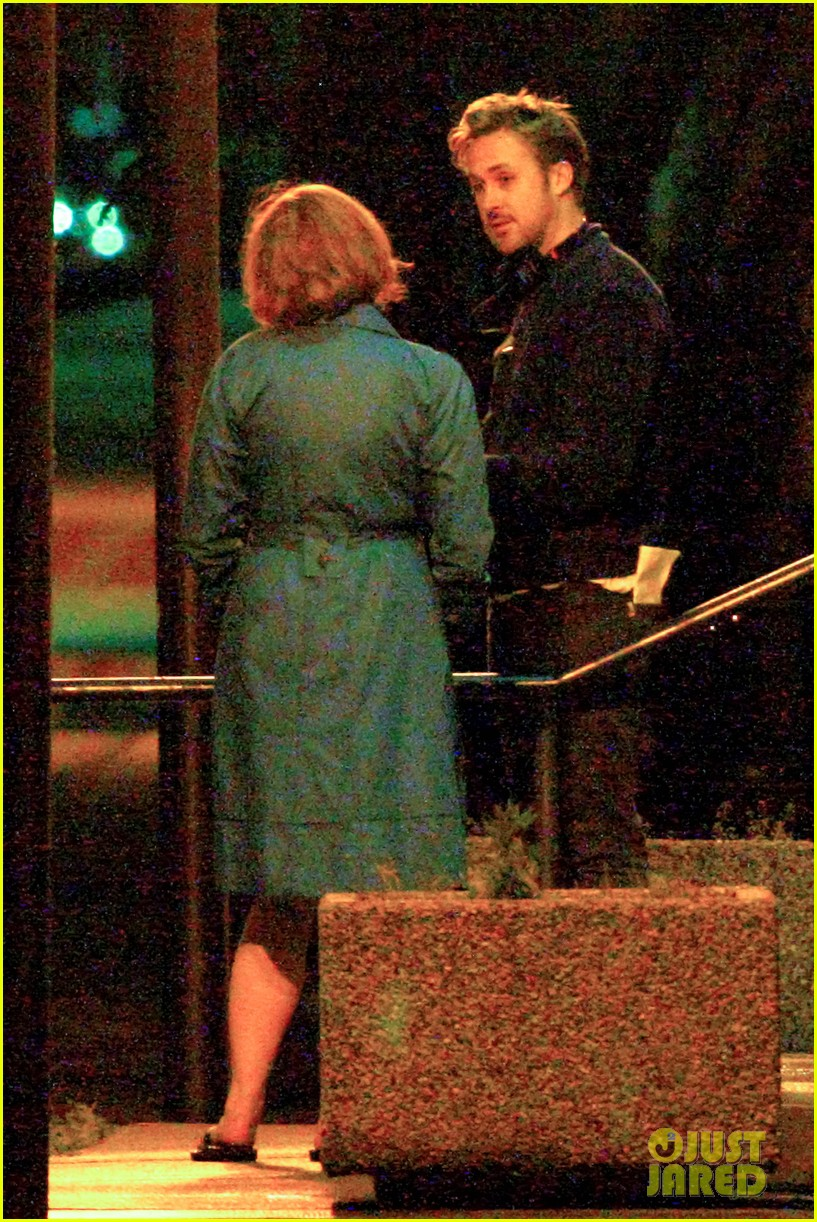 ryan gosling christina hendricks late night on monster set 102885942
