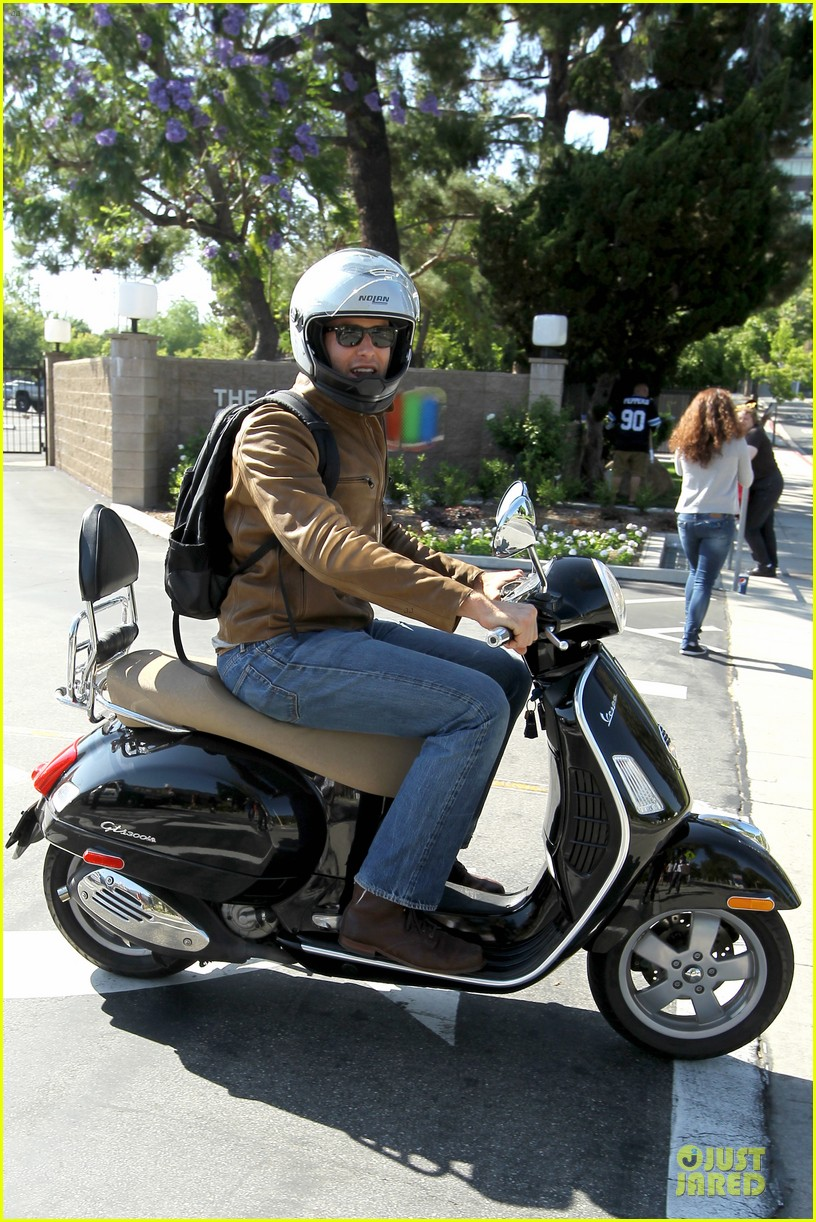 armie hammer motorcycle rider after leno appearance 032891583