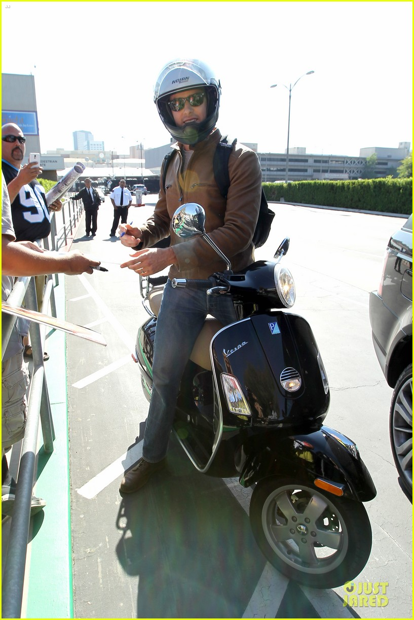 armie hammer motorcycle rider after leno appearance 072891587