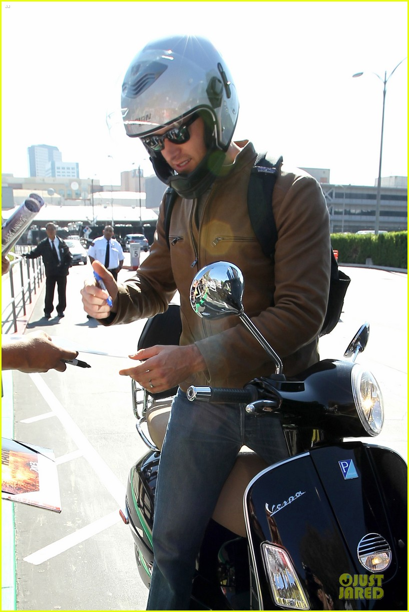 armie hammer motorcycle rider after leno appearance 082891588