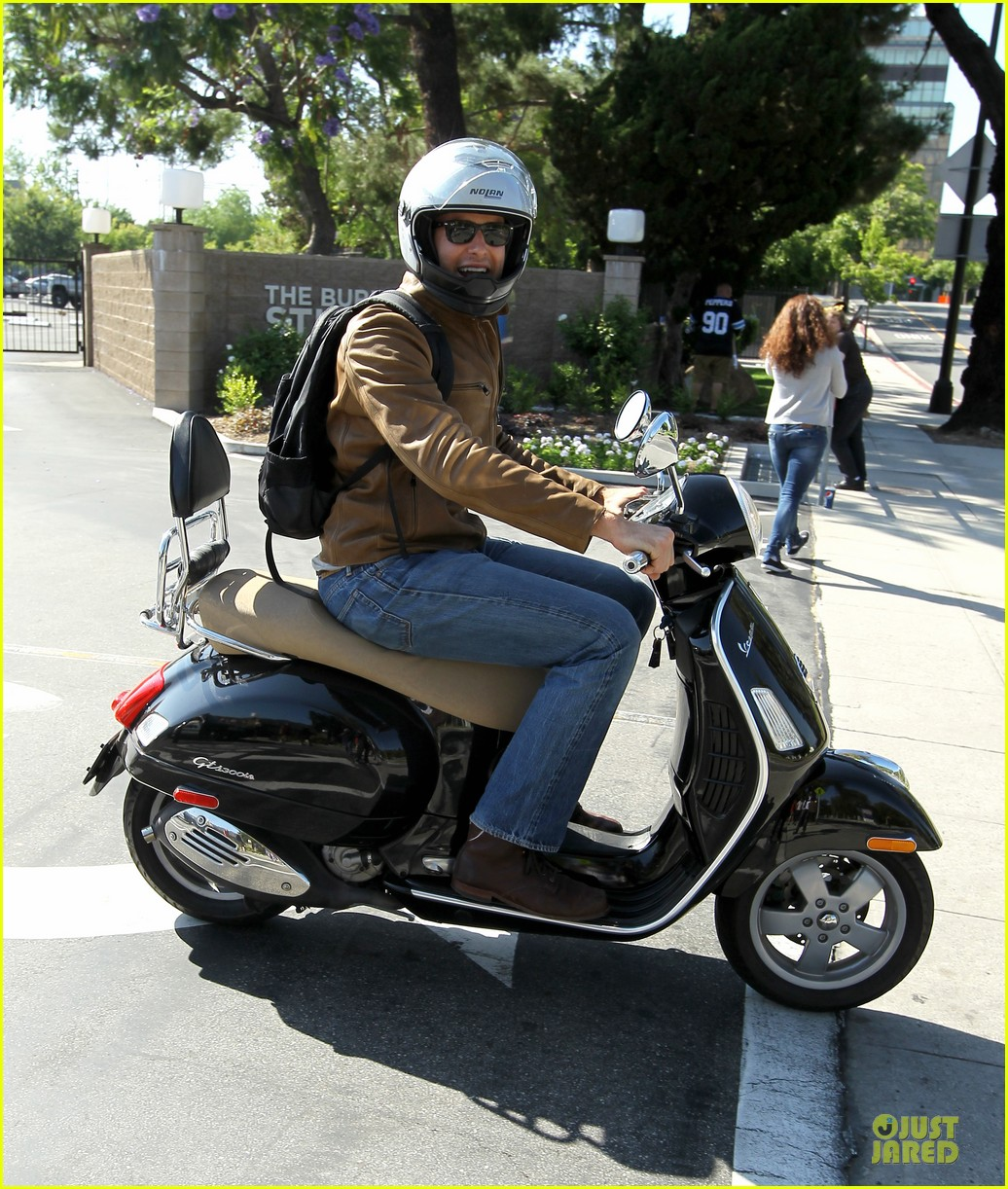 armie hammer motorcycle rider after leno appearance 092891589