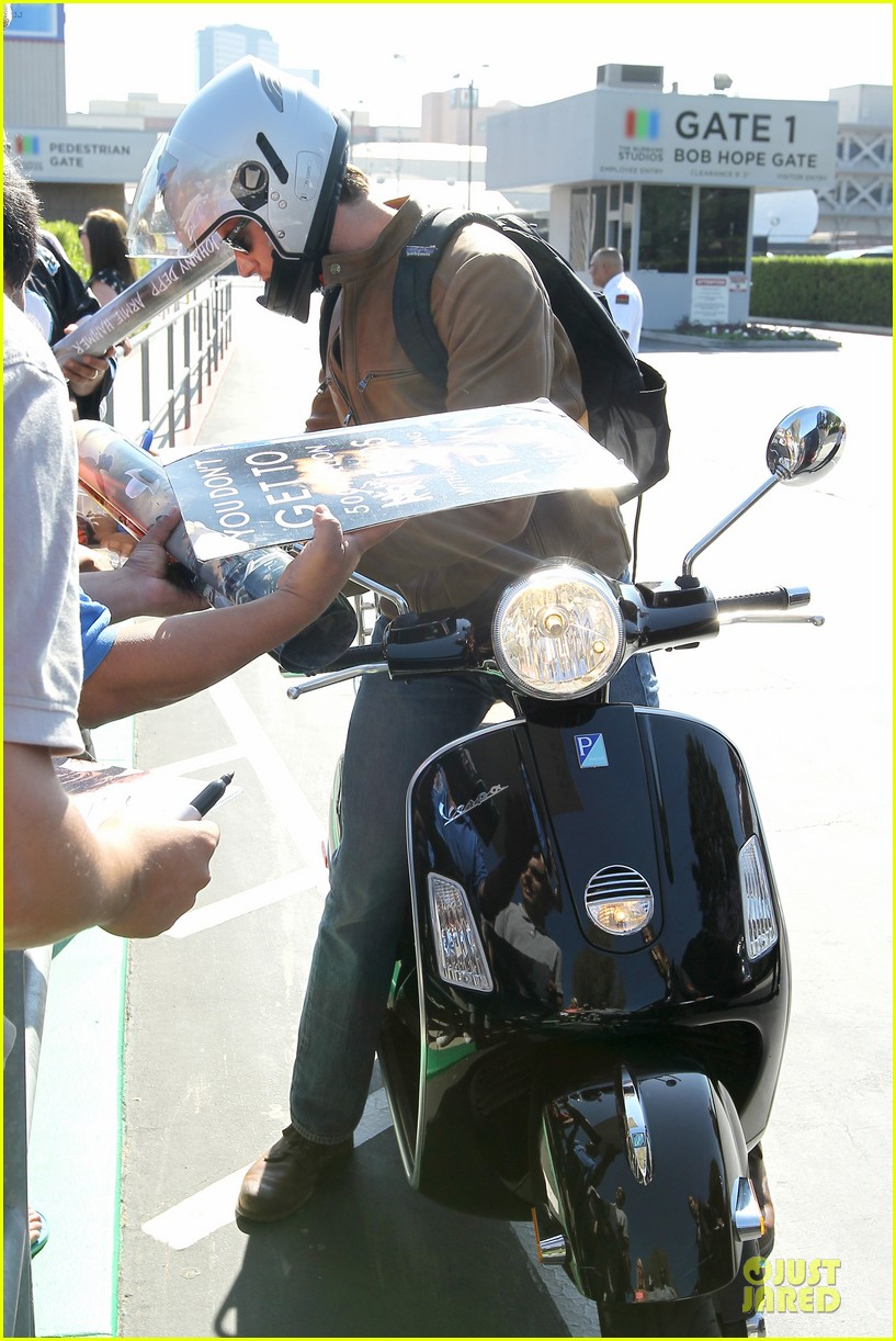 armie hammer motorcycle rider after leno appearance 122891592