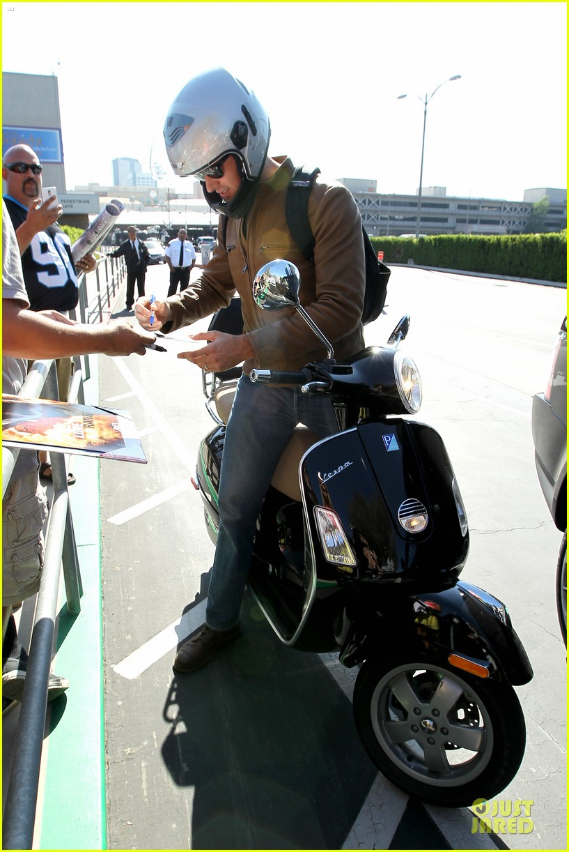 armie hammer motorcycle rider after leno appearance 142891594