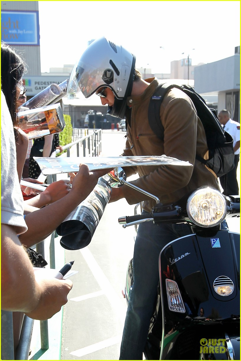 armie hammer motorcycle rider after leno appearance 152891595