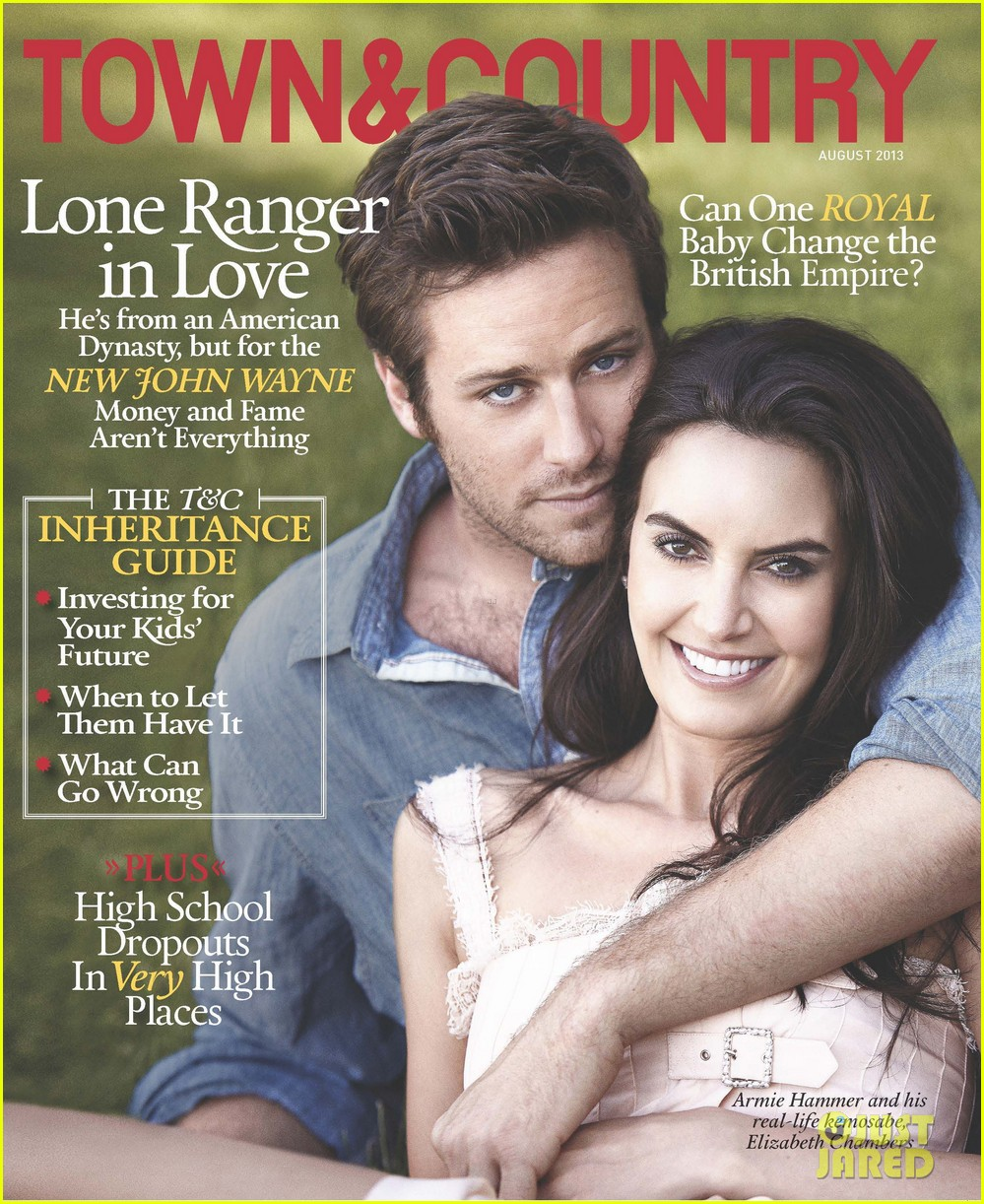armie hammer covers town country with wife elizabeth chambers 012898285