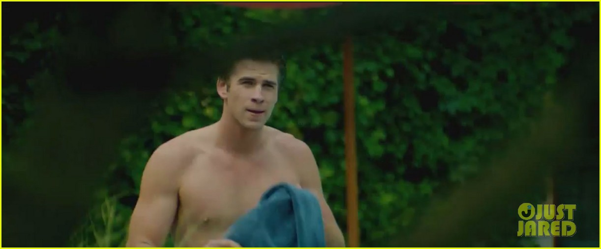 liam hemsworth shirtless in new paranoia trailer video 062885241
