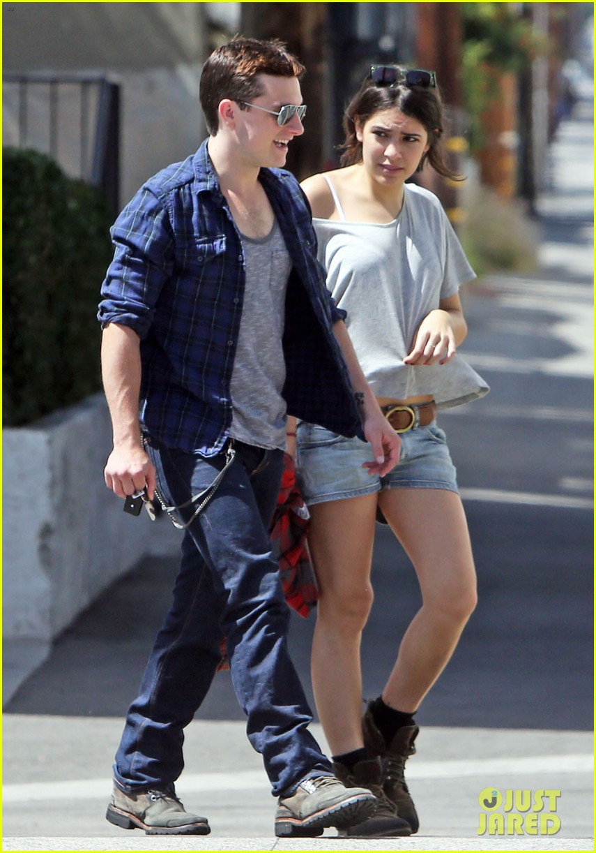 josh hutcherson claudia traisac kiss after motorcycle ride 032896632
